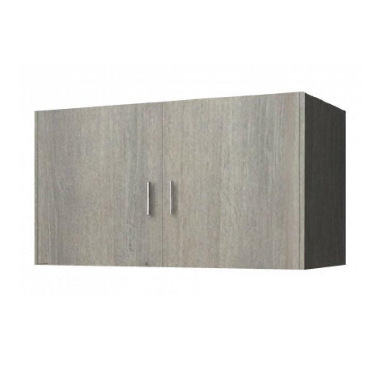 Πατάρι ντουλάπας δίφυλλο σε χρώμα σταχτί 85x50x60