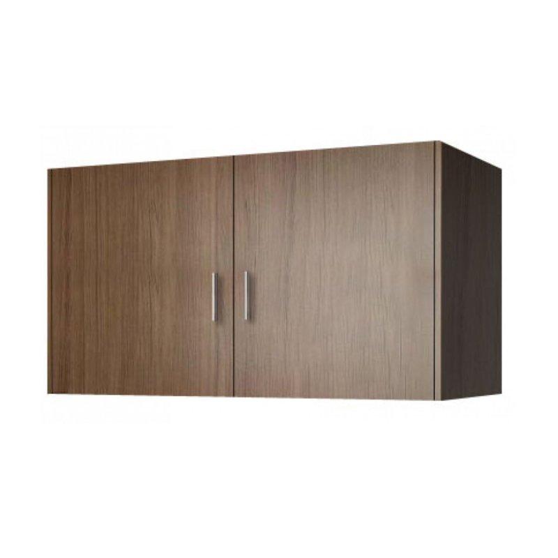 Πατάρι ντουλάπας δίφυλλο σε χρώμα καρυδί 105x50x60