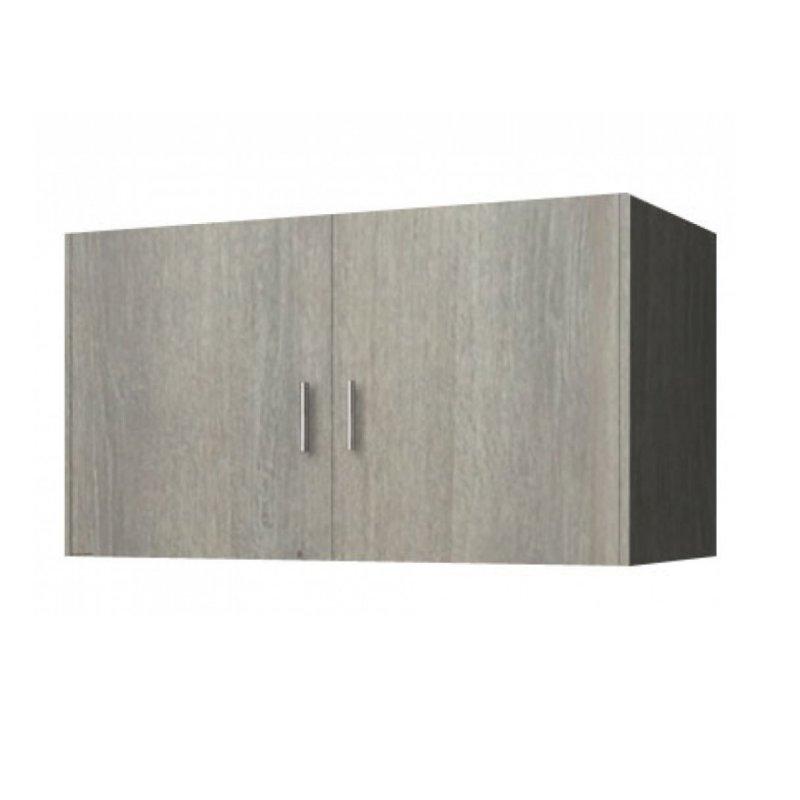 Πατάρι ντουλάπας δίφυλλο σε χρώμα σταχτί 105x50x60