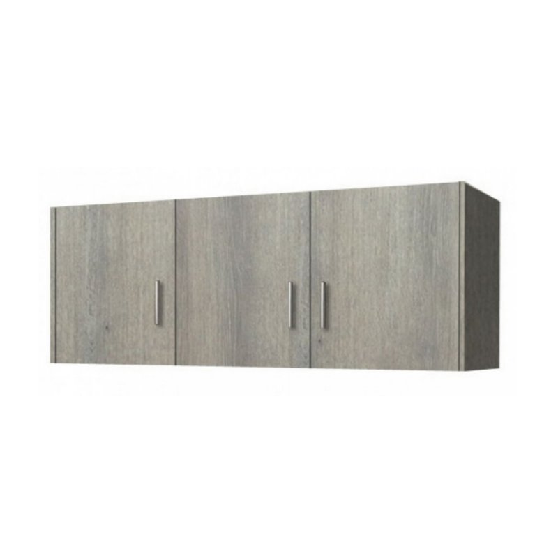 Πατάρι ντουλάπας τρίφυλλο σε χρώμα σταχτί 110x50x60