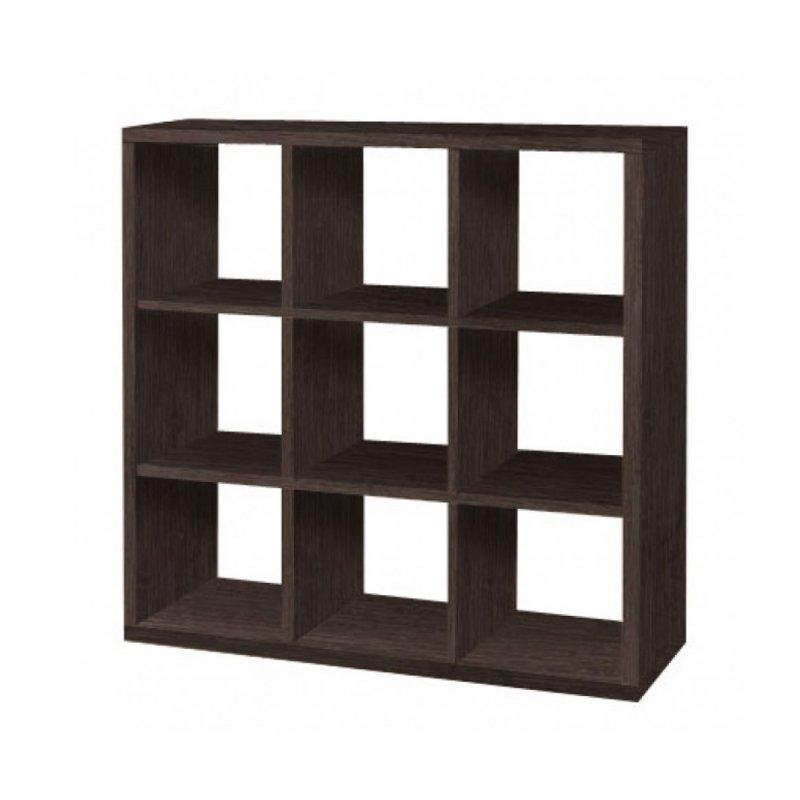 Βιβλιοθήκη με κύβους 3x3 σε βέγγε χρώμα 110x35x110