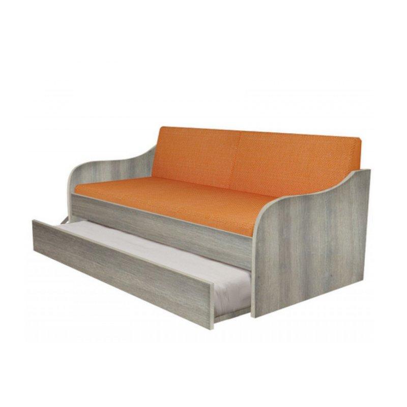"""Κρεβάτι-καναπές """"SILKY"""" με συρρόμενο κρεβάτι σε χρώμα σταχτί 190x80"""