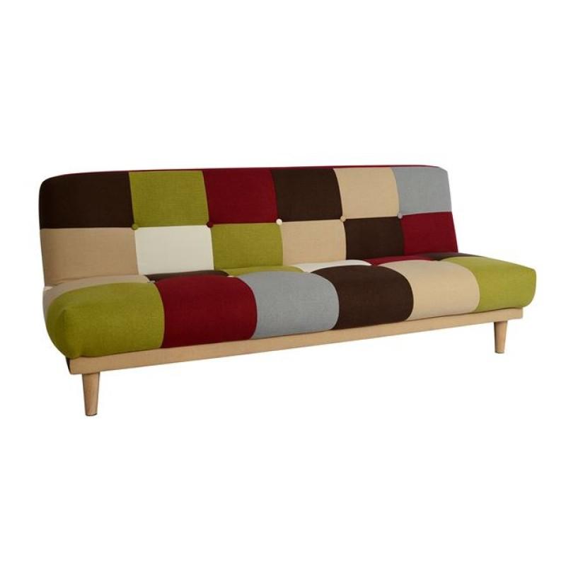 """Καναπές-κρεβάτι """"LEONARD"""" υφασμάτονος πολύχρωμος 187x80x74"""