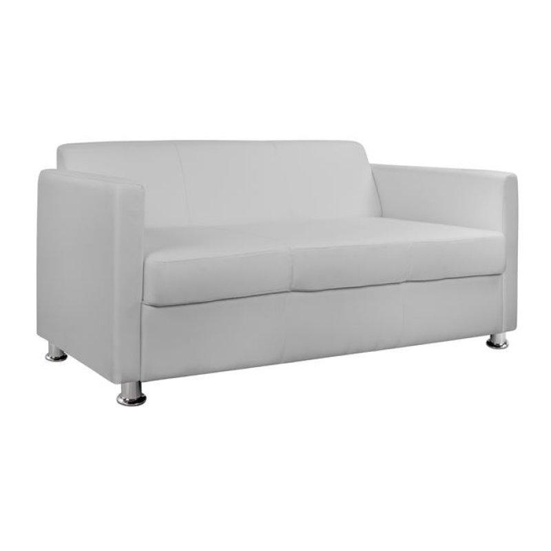 """Καναπές """"CUBO"""" τριθέσιος από pu σε λευκό χρώμα 173x71x73"""