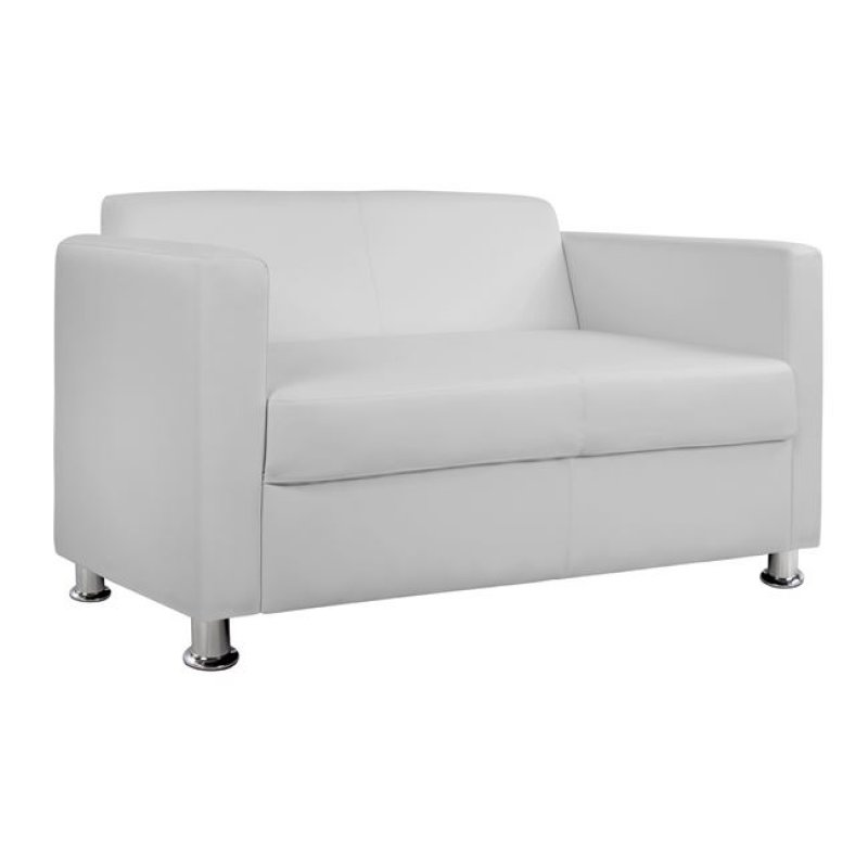 """Καναπές """"CUBO"""" διθέσιος από pu σε λευκό χρώμα 120x71x73"""
