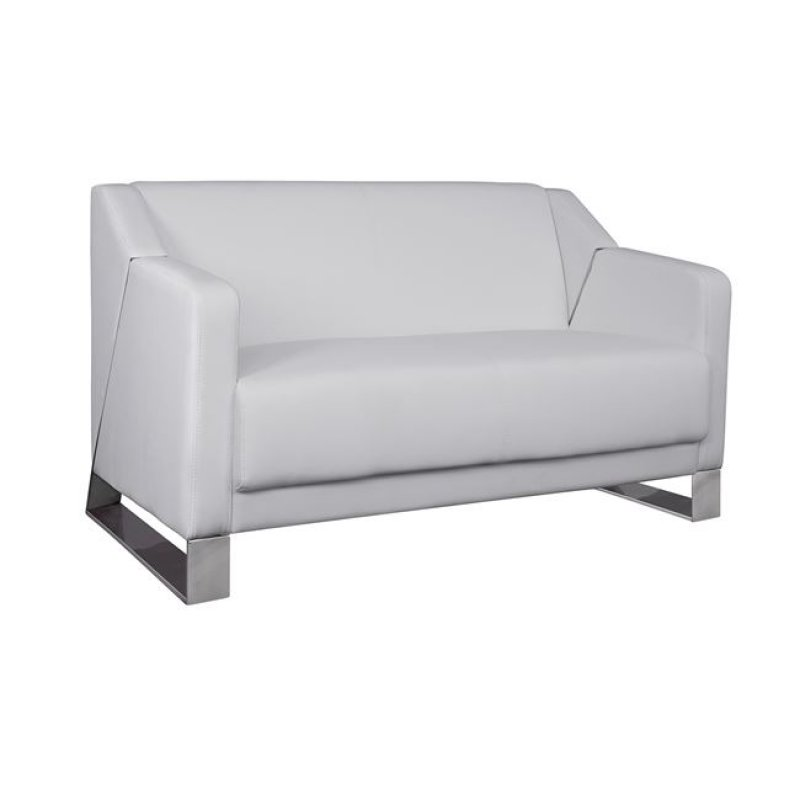 """Καναπές """"KIZZY"""" διθέσιος από pu σε λευκό χρώμα 128x75x75"""