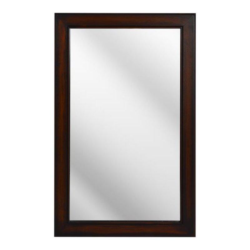 """Καθρέπτης """"LESLIE"""" ξύλινος σε χρώμα καφέ 50x80x2"""