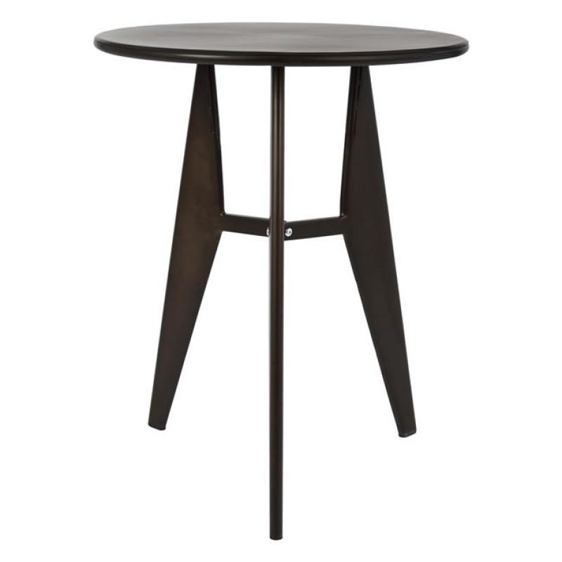 Τραπέζι μεταλλικό σε χρώμα ράστυ Φ60x74
