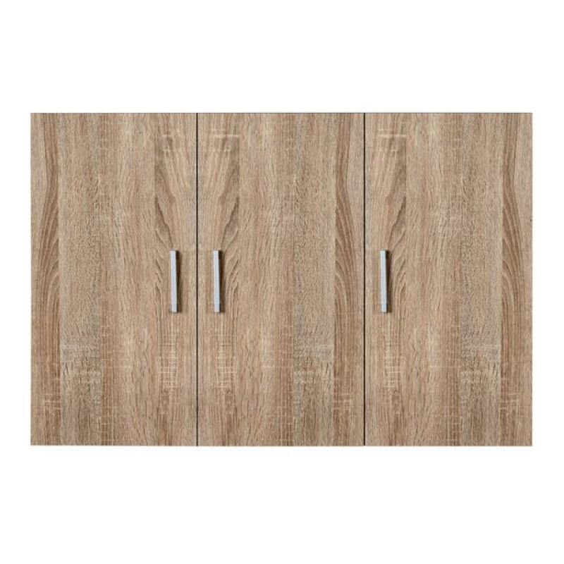 Πατάρι ντουλάπας τρίφυλλο σε σονόμα χρώμα 90x42x60