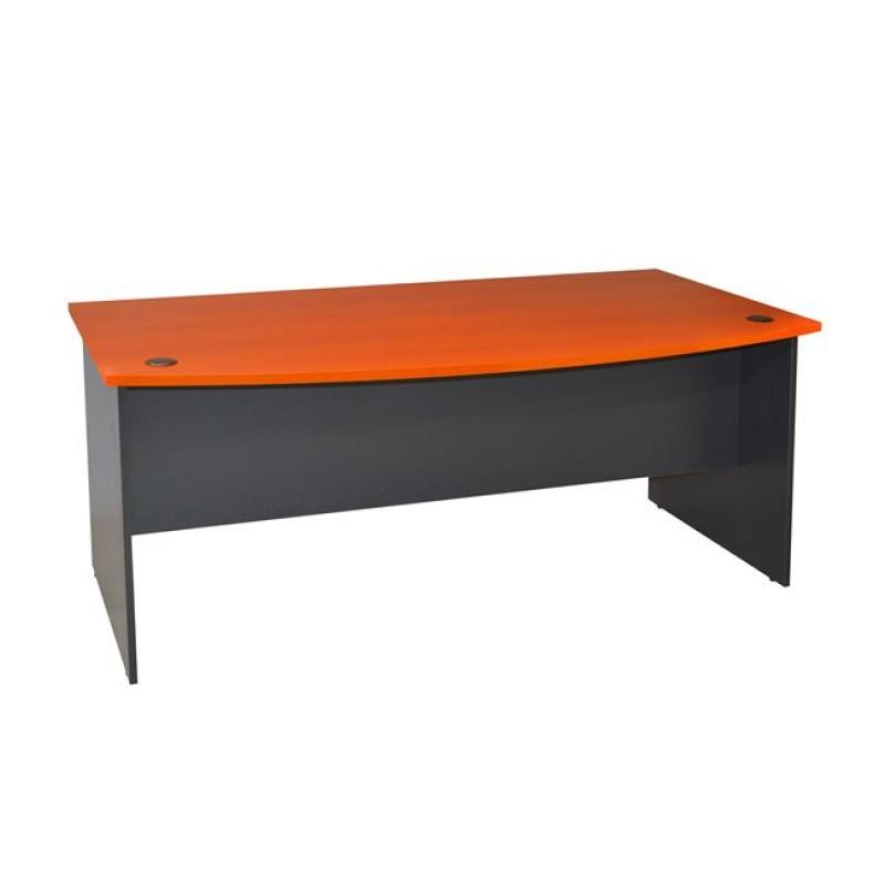Γραφείο επαγγελματικό σε χρώμα γκρι-κερασί 180x93,5x74,6