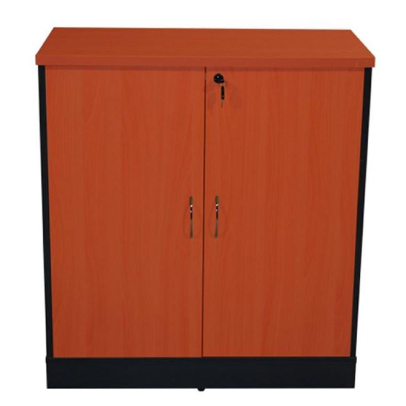 Ντουλάπι γραφείου σε χρώμα σκούρο γκρι-κερασί 80x40x82