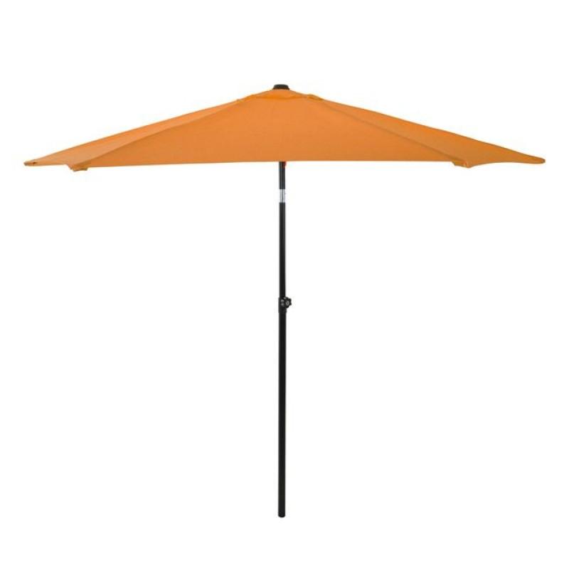 Ομπρέλα μεταλλική σε χρώμα πορτοκαλί με 6 ακτίνες Φ270x257