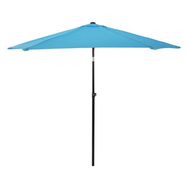 Ομπρέλα μεταλλική σε χρώμα γαλάζιο με 6 ακτίνες Φ270x257