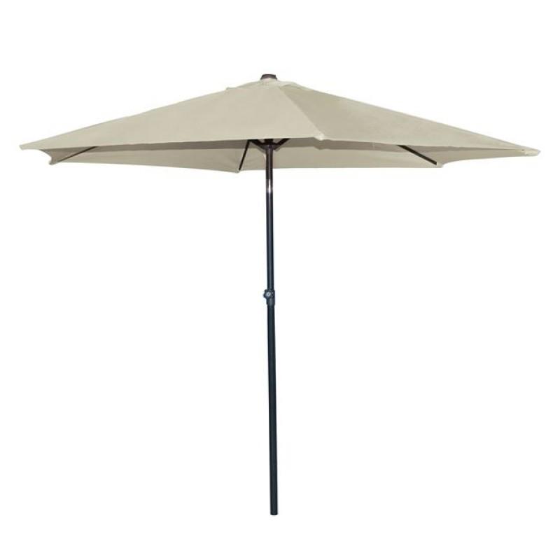 Ομπρέλα μεταλλική σε χρώμα μπεζ με 6 ακτίνες Φ270x257