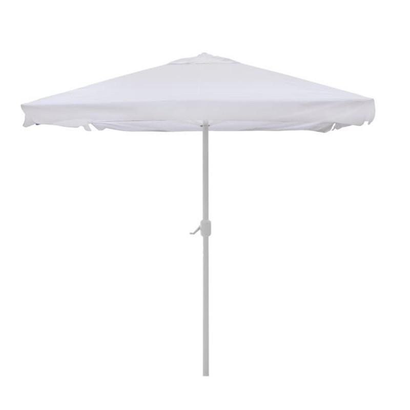 Ομπρέλα αλουμινίου σε χρώμα εκρού με μανιβέλα 3x3
