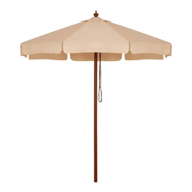 Ομπρέλα με ξύλινο σκελετό σε χρώμα μπεζ Φ230x250