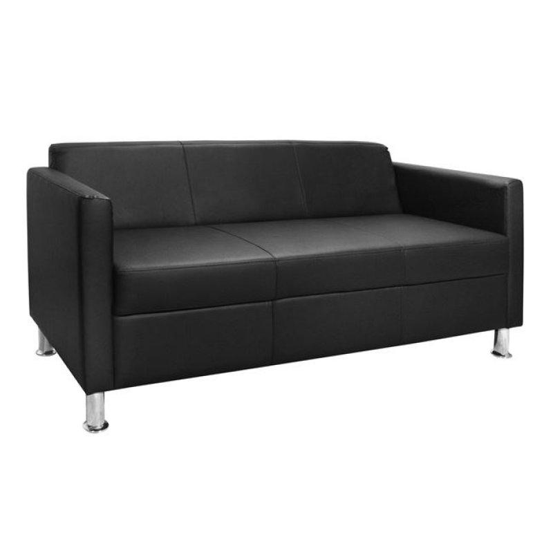 """Καναπές """"CUBO"""" τριθέσιος από pu σε μαύρο χρώμα 173x71x73"""