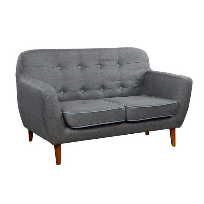 """Καναπές διθέσιος """"CAROUSEL"""" υφασμάτινος σε χρώμα γκρι 134x73x80"""