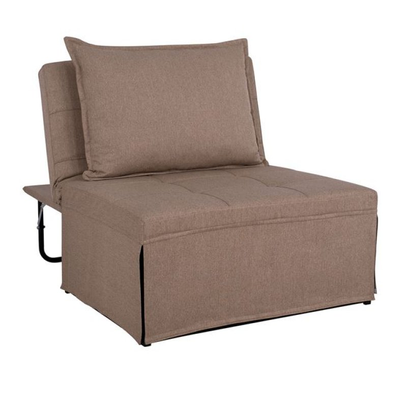 """Πολυθρόνα κρεβάτι σκαμπό """"TRANSFORMER"""" υφασμάτινη σε χρώμα μπεζ 94x114x85"""