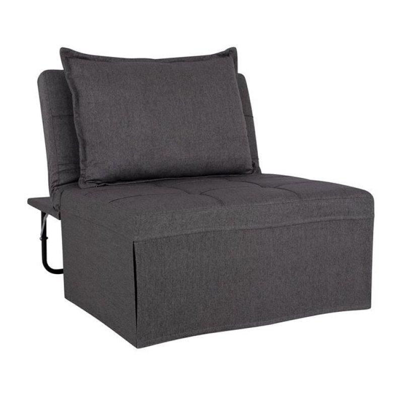 """Πολυθρόνα κρεβάτι σκαμπό """"TRANSFORMER"""" υφασμάτινη σε χρώμα γκρι 94x114x85"""