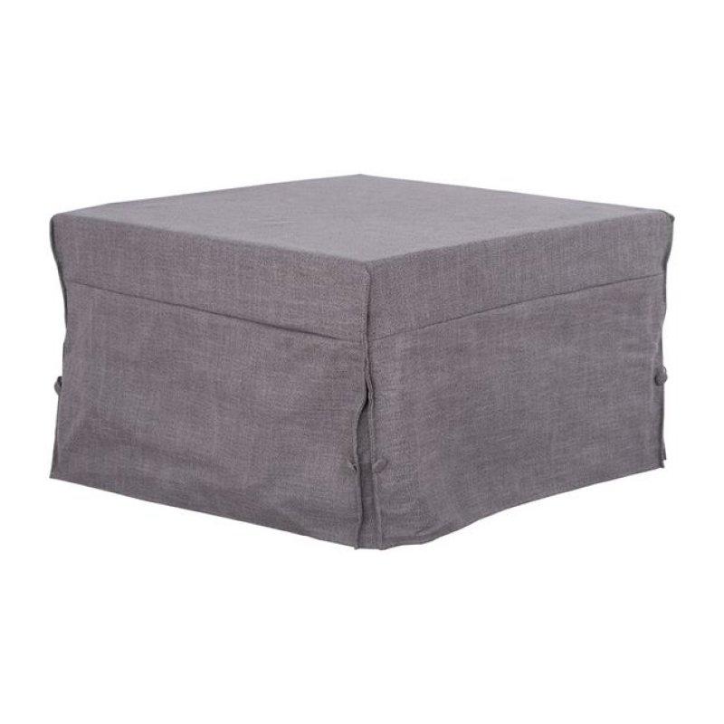 Σκαμπό κρεβάτι υφασμάτινο σε χρώμα γκρι 75,5x75,5x47