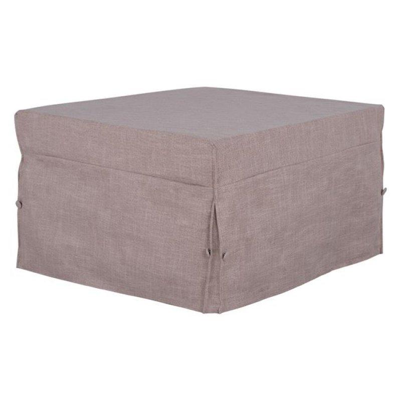 Σκαμπό κρεβάτι υφασμάτινο σε χρώμα μπεζ 75,5x75,5x47