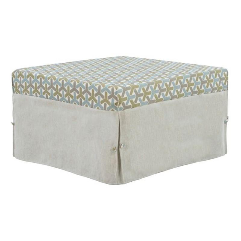 Σκαμπό κρεβάτι υφασμάτινο σε χρώμα εκρού 75,5x75,5x47
