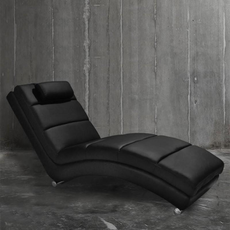 """Ανάκλινδρο """"RELAX"""" από PU σε χρώμα μαύρο 185x62x90"""