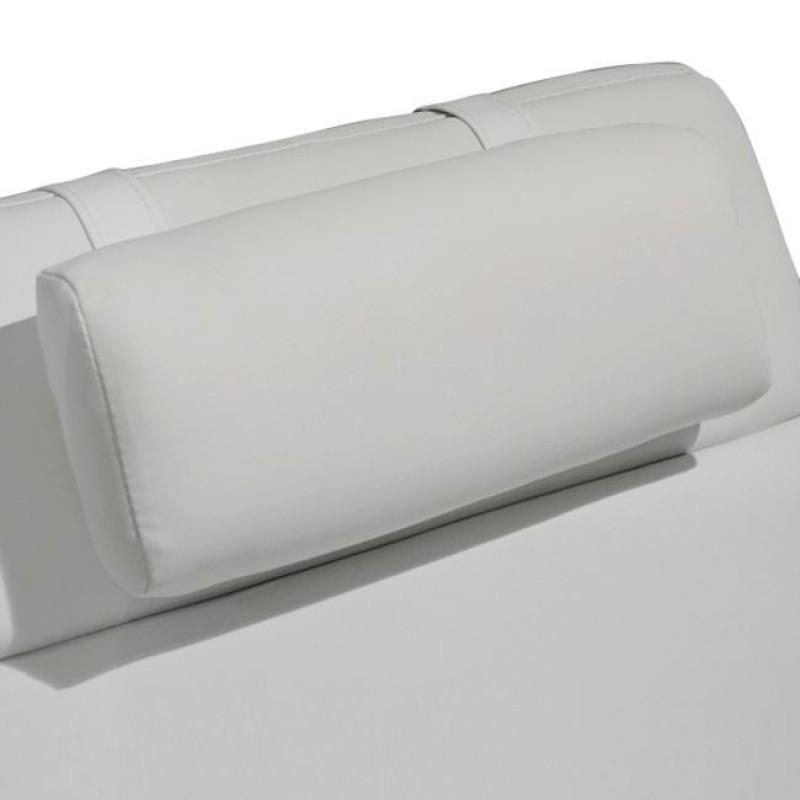 """Ανάκλινδρο """"RELAX"""" από PU σε χρώμα λευκό 185x62x90"""