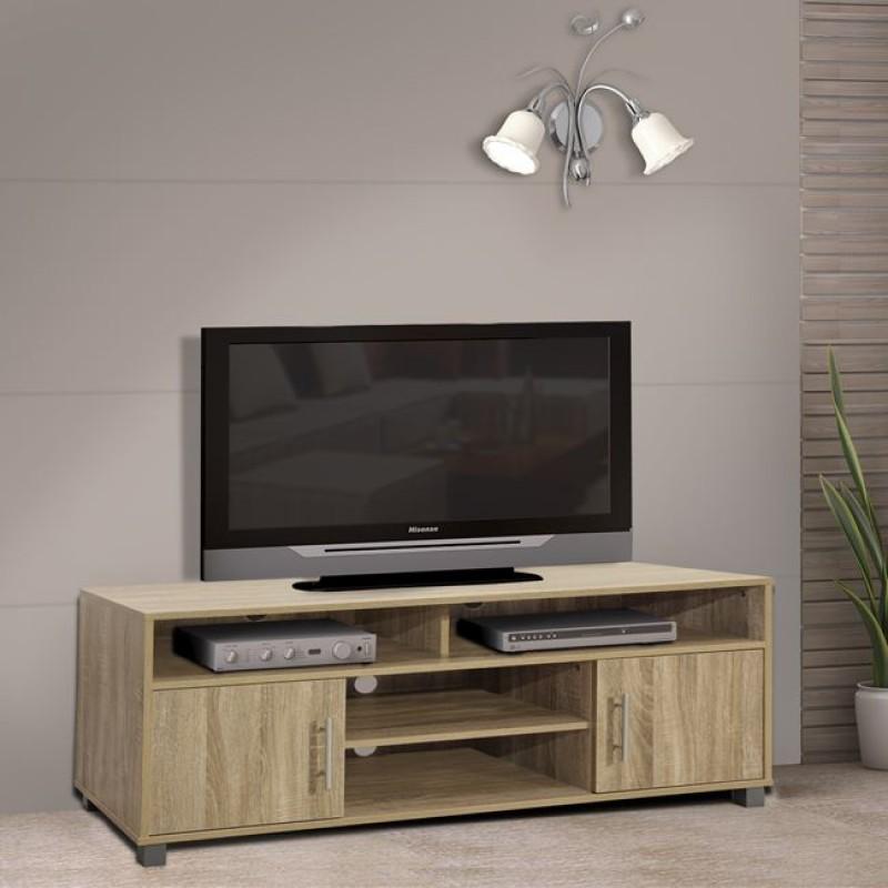 Έπιπλο τηλεόρασης μοντέρνο σε χρώμα σονόμα 120x40x54