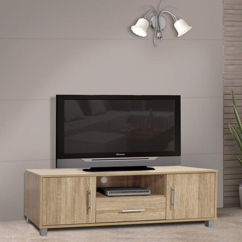 Έπιπλο τηλεόρασης μοντέρνο σε χρώμα σονόμα 120x40x39