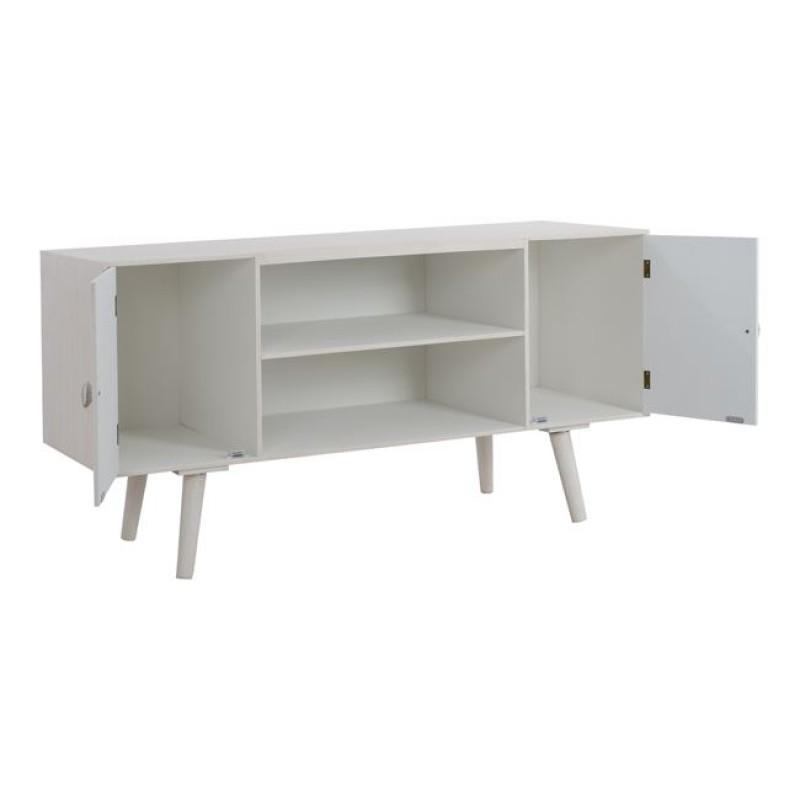 """'Επιπλο τηλεόρασης """"VALERIE"""" ξύλινο σε χρώμα μπεζ/εκρού 120x45x62"""