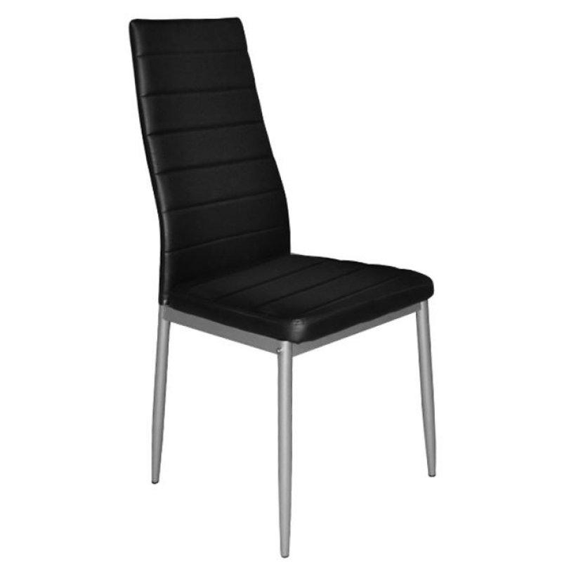 """Καρέκλα """"LADY"""" μεταλλική/PU σε χρώμα μαύρο 40x51x95"""