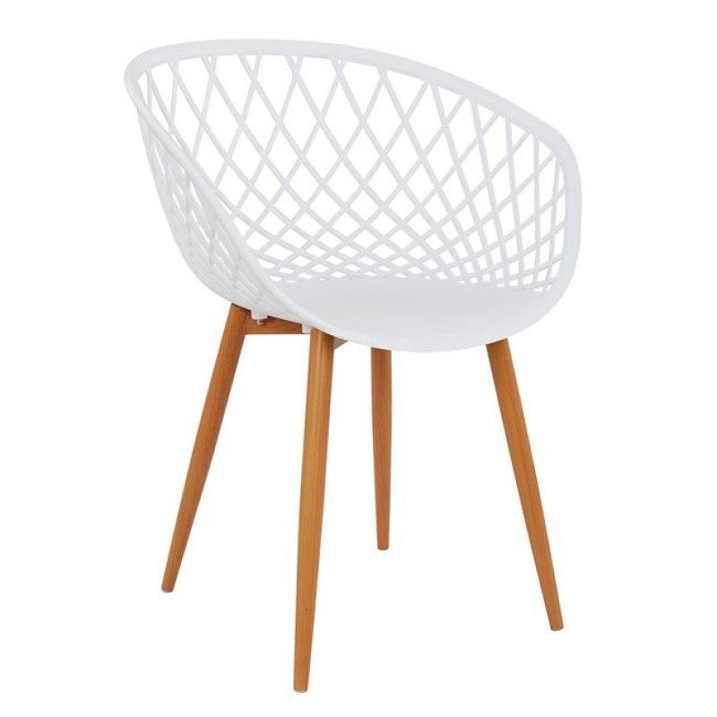 """Πολυθρόνα """"ARIADNE"""" PP σε χρώμα λευκό/φυσικό 62,5x56x80"""