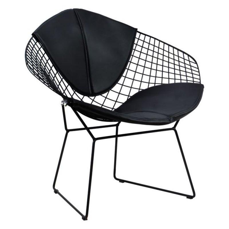 """Πολυθρόνα """"CLOE"""" μεταλλική/PU σε χρώμα μαύρο 81x67x79"""