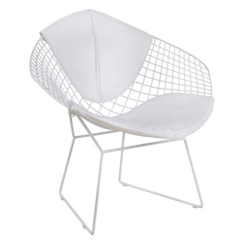 """Πολυθρόνα """"CLOE"""" μεταλλική/PU σε χρώμα λευκό 81x67x79"""