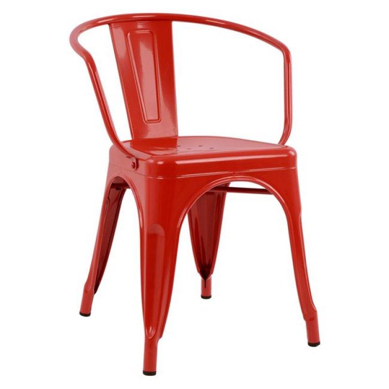 """Πολυθρόνα """"MELITA"""" μεταλλική σε χρώμα κόκκινο 52x49x72"""