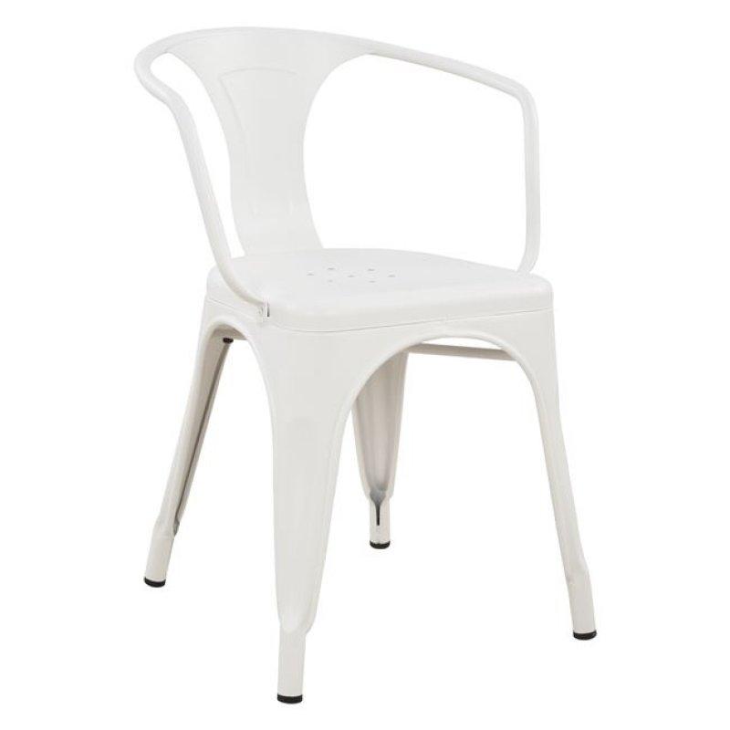 """Πολυθρόνα """"MELITA"""" μεταλλική σε χρώμα λευκό 51x46,5x71"""