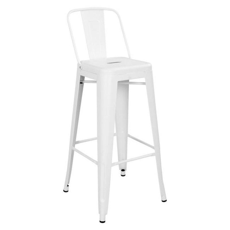 """Σκαμπό μπαρ """"MELITA"""" μεταλλικό σε χρώμα λευκό 43x43x104"""