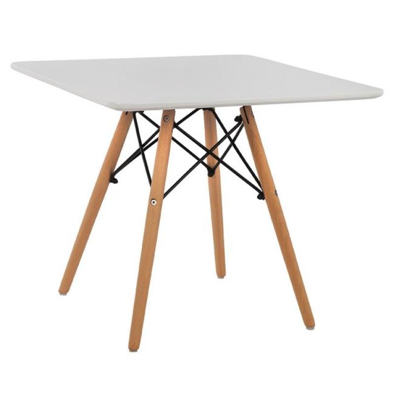 """Τραπέζι """"MINIMAL KID"""" από mdf σε χρώμα φυσικό/λευκό 60x60x51"""