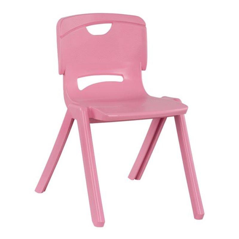 Καρέκλα παιδική από PP σε χρώμα ροζ 34x44x48