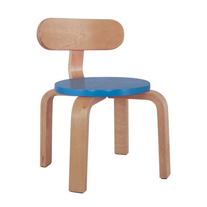 """Καρέκλα παιδική """"MATILDA"""" από ξύλο σε χρώμα φυσικό/μπλε 28x33x42"""