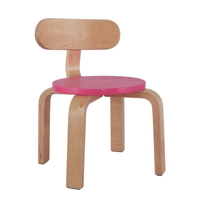 """Καρέκλα παιδική """"MATILDA"""" από ξύλο σε χρώμα φυσικό/ροζ 28x33x42"""