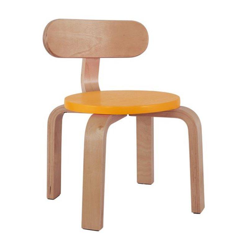 """Καρέκλα παιδική """"MATILDA"""" από ξύλο σε χρώμα φυσικό/κίτρινο 28x33x42"""