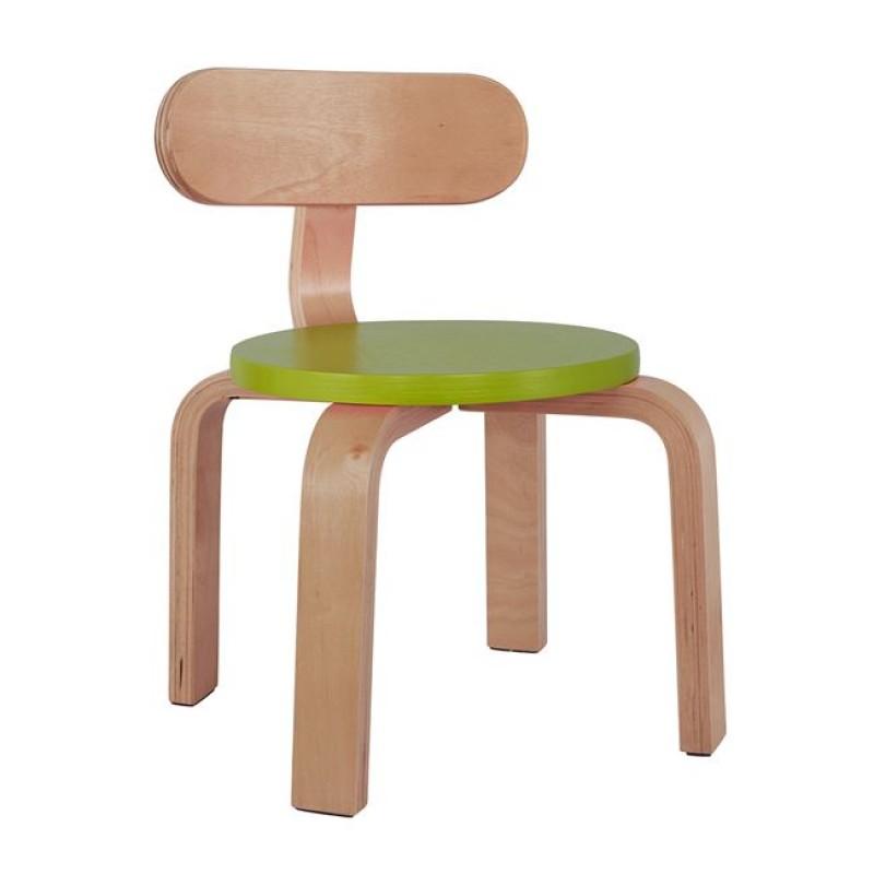 """Καρέκλα παιδική """"MATILDA"""" από ξύλο σε χρώμα φυσικό/πράσινο 28x33x42"""
