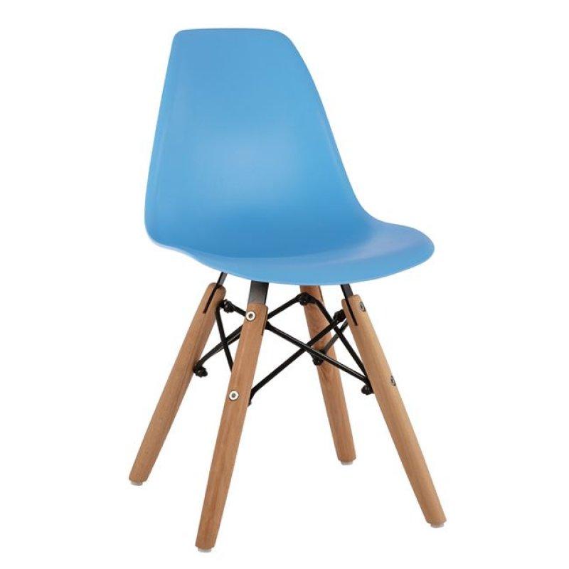 """Καρέκλα παιδική """"TWIST KID"""" από PP σε χρώμα φυσικό/μπλε 30,5x33x59"""