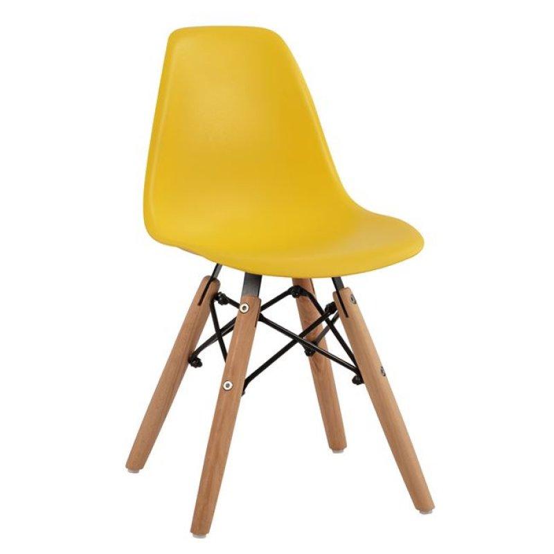 """Καρέκλα παιδική """"TWIST KID"""" από PP σε χρώμα φυσικό/κίτρινο 30,5x33x59"""