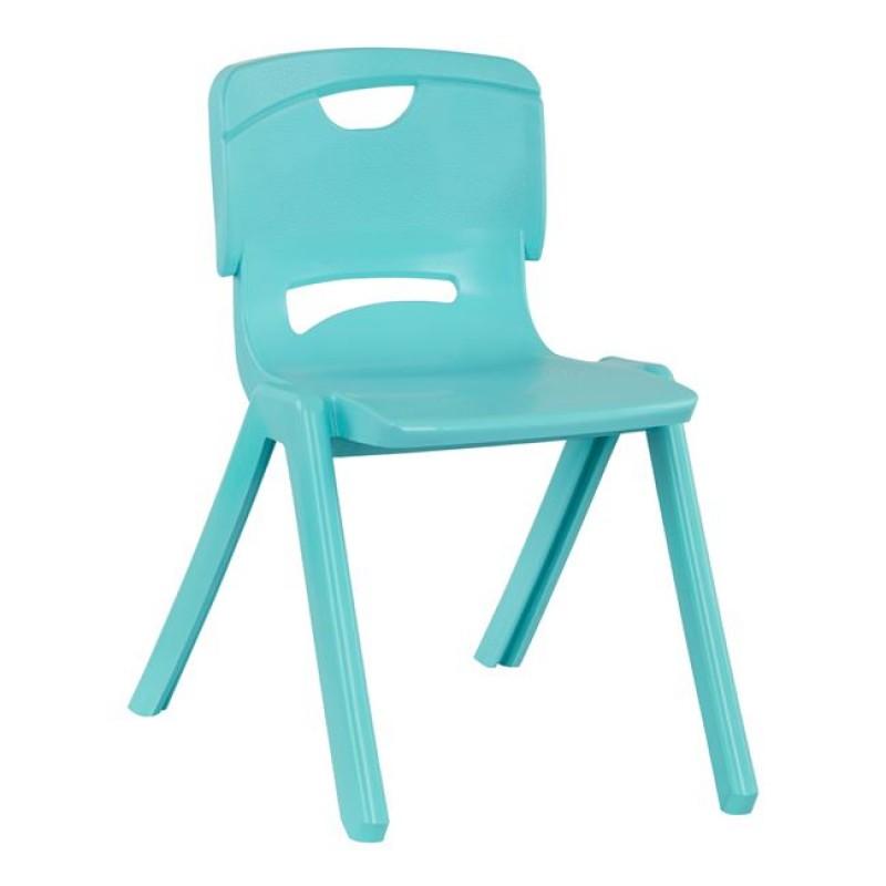 Καρέκλα παιδική από PP σε χρώμα γαλάζιο 34x44x48