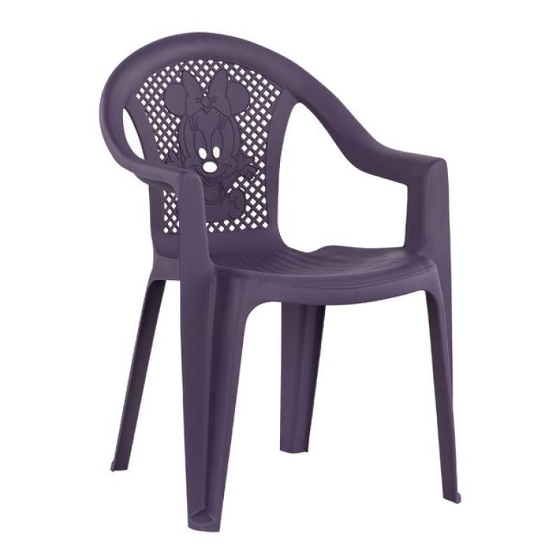 Καρέκλα παιδική από PP σε χρώμα μωβ 37,5x35x53,5