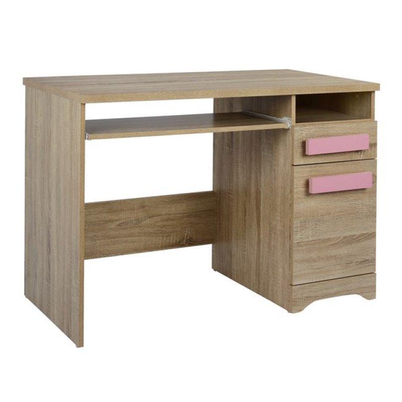 """Γραφείο """"PLAYROOM"""" από χρώμα σονόμα/ροζ 110x55x76,5"""